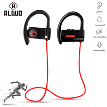ALANGDUO A1 Wireless Headphone Bluetooth Earphone running Waterproof For Phone Neckband With Mic Sport Bluetooth V4.2(China)