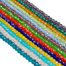 Fashion 14 Color 6MM/50PCS Candy Color Glass Beads Circular Cross Section Loose Bead For DIY Bracelets & Necklaces