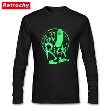 Authentic Vintage Funny I am Pickle Rick Tee for Men Luxury Brand Design Long Sleeved Team T Shirt Dropship Wholesalers(China)