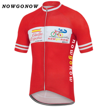NEW Spain Cycling Team Cycling Jersey cycling clothing wear Personalized Tour of Spain Customized red clothing Jerseys(China)
