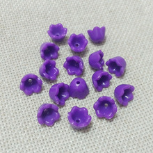 purple spring color flower beads fiber fringe caps baby girls necklace end tassels earrings findings spacer Charms rope clasps