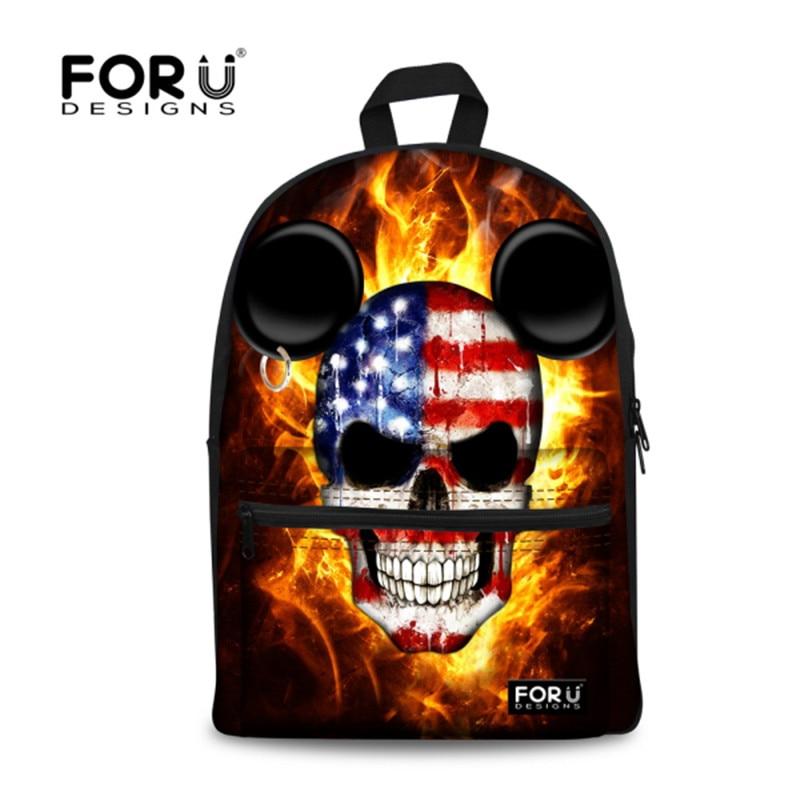 New Designer Black Cool Skull Backpack For Children Kids School Backpacks Boys Shoulder Travel Backpack Laptop Backpack Mochila<br>