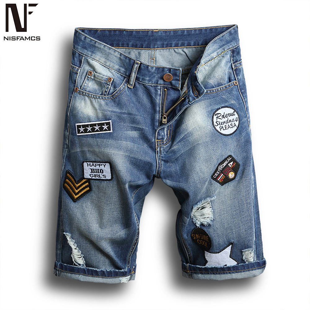 Holes Casual Jeans Men Plus Size Hip Hop Short Jean 2019 Harajuku Summer Shorts Vintage Novelty Men's Jeans Beach Clothes Men