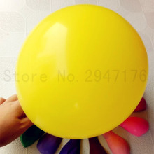 100% latex balloon yellow 10inch 50pcs ornament helium balloon wedding birthday party ball holiday inflatable toys free shipping