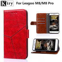 Leagoo M8 Case PU Leather + Soft Silicone Wallet Flip Cover for Leagoo M8 Pro Case Phone Fundas with Card Holder