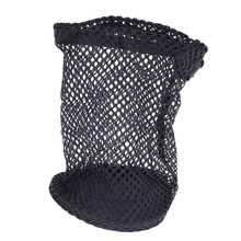 Portable Lightweight Drawstring Nylon Mesh Black Golf Ball Storage Golf Training Aids Accessories Bag Hold Up to 12 Golf Balls