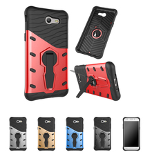 TopArmor Case For Samsung Galaxy J3 2017 US Version Cover Shock proof 360 swivel Phone shell heat dissipation Armor Phone Case(China)