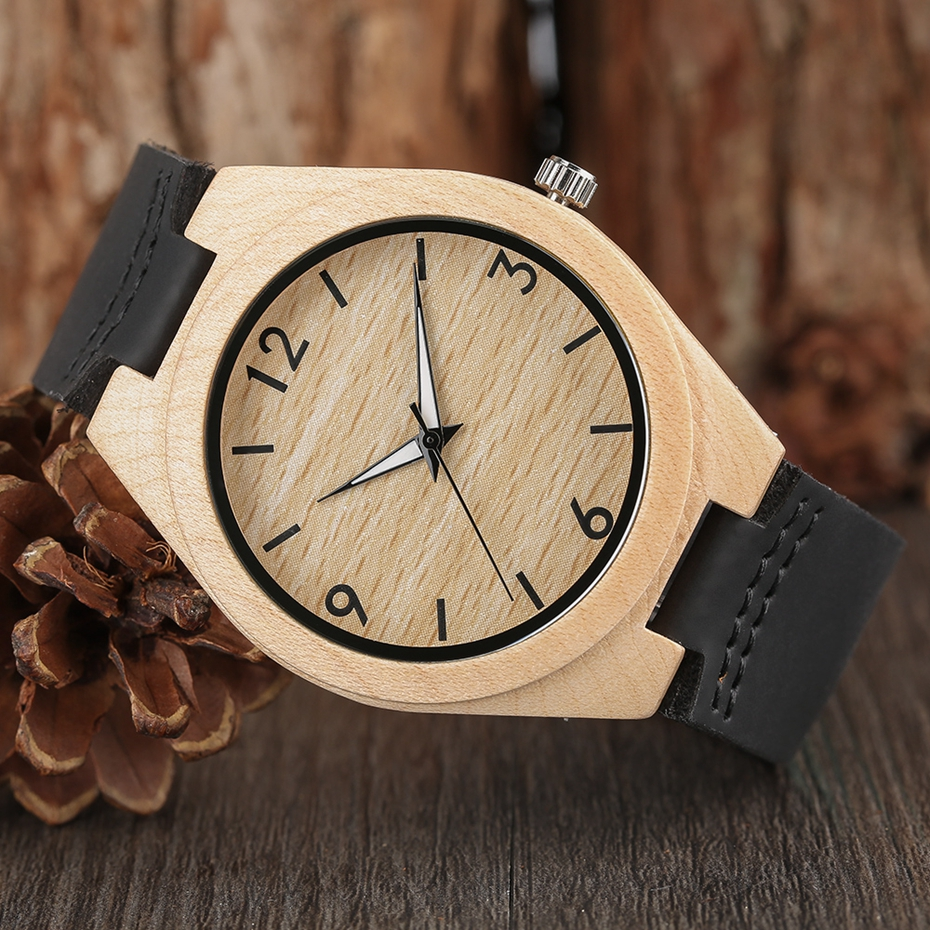 Creative Full Natural Wood Male Watches Handmade Bamboo Novel Fashion Men Women Wooden Bangle Quartz Wrist Watch Reloj de madera 2017 (57)