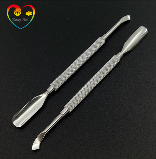 EasyNail 1PCS Nail File Cuticle Spoon Remover Manicure Trimmer Cuticle Pusher Stainless Steel Nail Tools,high quality
