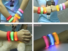 Free Shipping Lover's Nylon LED Flashing Arm Band Wrist Strap Armband For Outdoor Sports Night Activity Party Cheer 500pcs/lot