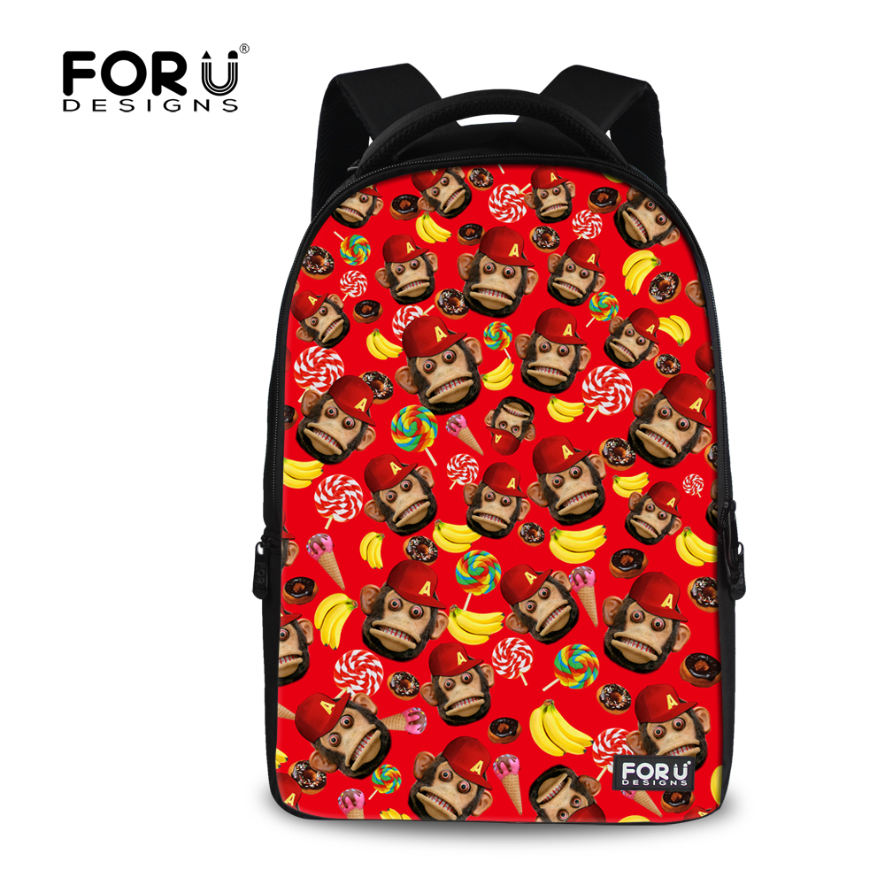 Kawaii Women Laptop Backpacks Cute Animal Banana Monkey Printing Tourism Bagpack for Teenager Girls Casual Women Travel Backbag<br>