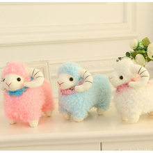 25cm Japanese Alpacasso Soft Toys Doll Giant Stuffed Animals Toy 3 Colors Kawaii Alpaca Plush Kids Christmas Gift m55