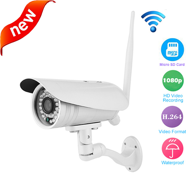 3516C+1/2.8 SONY323 Full HD 1080P Bullet IP Camera WiFi Outdoor Waterproof two way aduio talk IR SD card Android n IPhone OS<br><br>Aliexpress