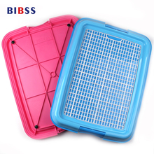 Pet Dog Mesh Dog Toilet Pee Pad Tray Cat Mat Pet Potty Toilet Puppy Pee Training Clean Toilet for dogs Resin Pet Puuy Pad(China)