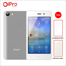 IPRO WAVE 4.0II Quad-core Celular Android 5.1 Unlocked Mobile Phone 512M RAM 4GB ROM Dual SIM Cell Phones with Phone Case + Film