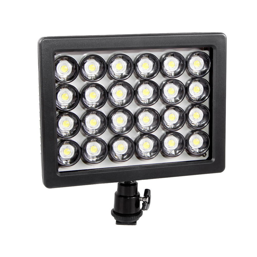 WANSEN W24 LED Video Light Lamp Dimmable Lighting for Canon Nikon Pentax DSLR High Quality<br><br>Aliexpress