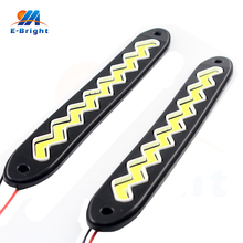 2Pcs/set DC 12V COB 72 SMD LED Lamp Flexible WAVED DRL 3.6W Fog Light Off Road Daytime Running Lights White 8000K Free Shipping(China)