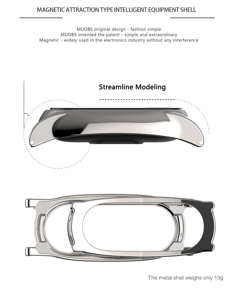 Original Stainless Steel Metal Plus Fitbit Free tool Xiaomi miband 2 Smart Bracelet Replacement Fitness Tracker mi Accessories 9
