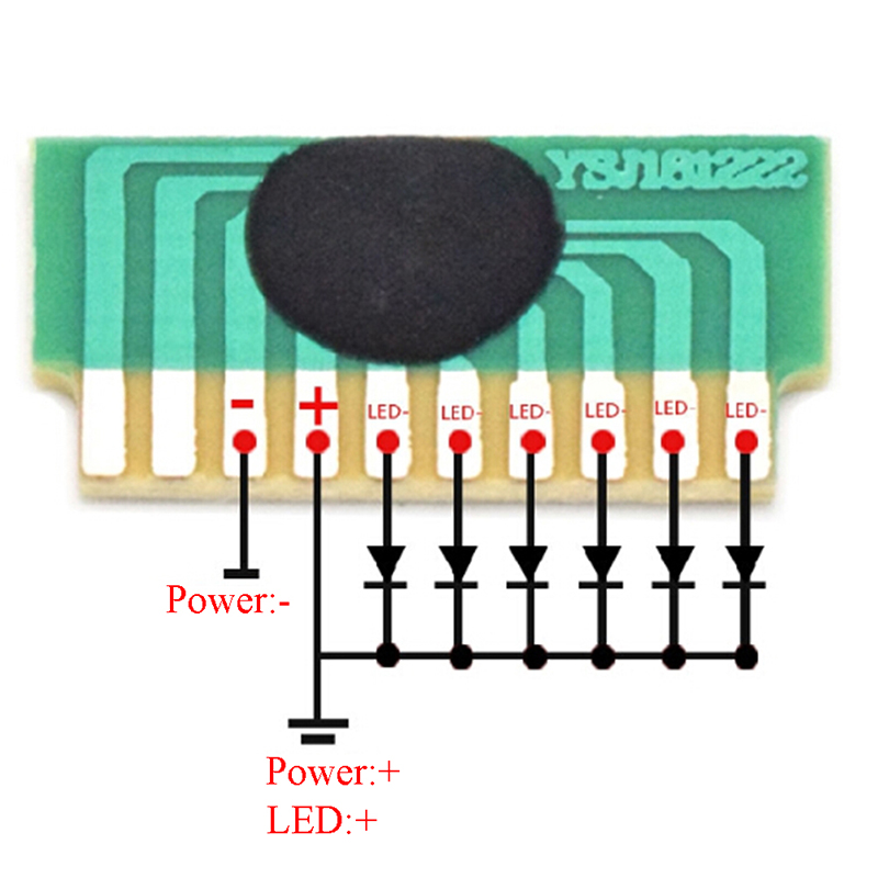 10 шт. 6 светодиодный LED s 3 4 5 V Flash Chip COB Driver Cycle Flashing Control Board Module IC Electronic DIY для