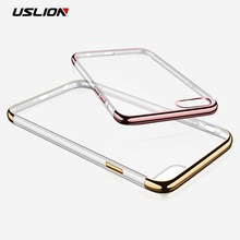 Buy USLION Plating Clear Case iPhone 7 7 Plus Transparent Phone Cover iPhone7 Plus Slim Soft TPU Silicon Cases Capa Coque for $1.27 in AliExpress store
