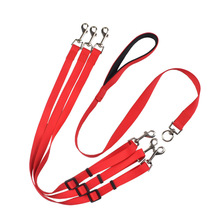 New Fashion 1 to 3 Dogs Leash Coupler Nylon Dog Lead Leash 3 Way Walking Leash Rope Puppy Pets Traction Rope