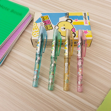 4PCS/LOT each color one Cute portable short gel pen BT-552 Notebook pen Color pen shine Student gift freeshipping