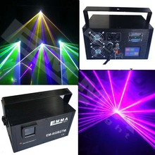 Sound Activation Stage Laser animation Effects dj Laser Light Projector - Green red blue yellow pink white Lights