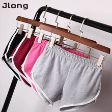 2017 Summer Street Fashion Shorts Women Elastic Waist Short Pants Women All-match Loose Solid Soft Cotton Casual Short Femme(China)