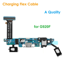 A Quality Replacement Charging Flex Cable for Samsung Galaxy S6 G920F Headphone Jack Microphone USB Port Socket Dock Connector(China)