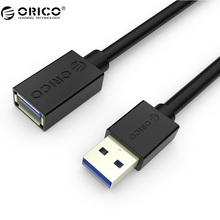 ORICO CER3-15-WH USB 3.0 Male to Female Extension Data Cable - White/Black