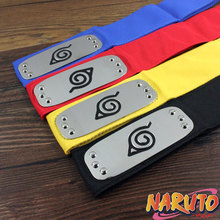 Anime Naruto Cosplay Headband halloween cosplay black Red Yellow Blue Hokage headband kakashi cosplay headwear for men
