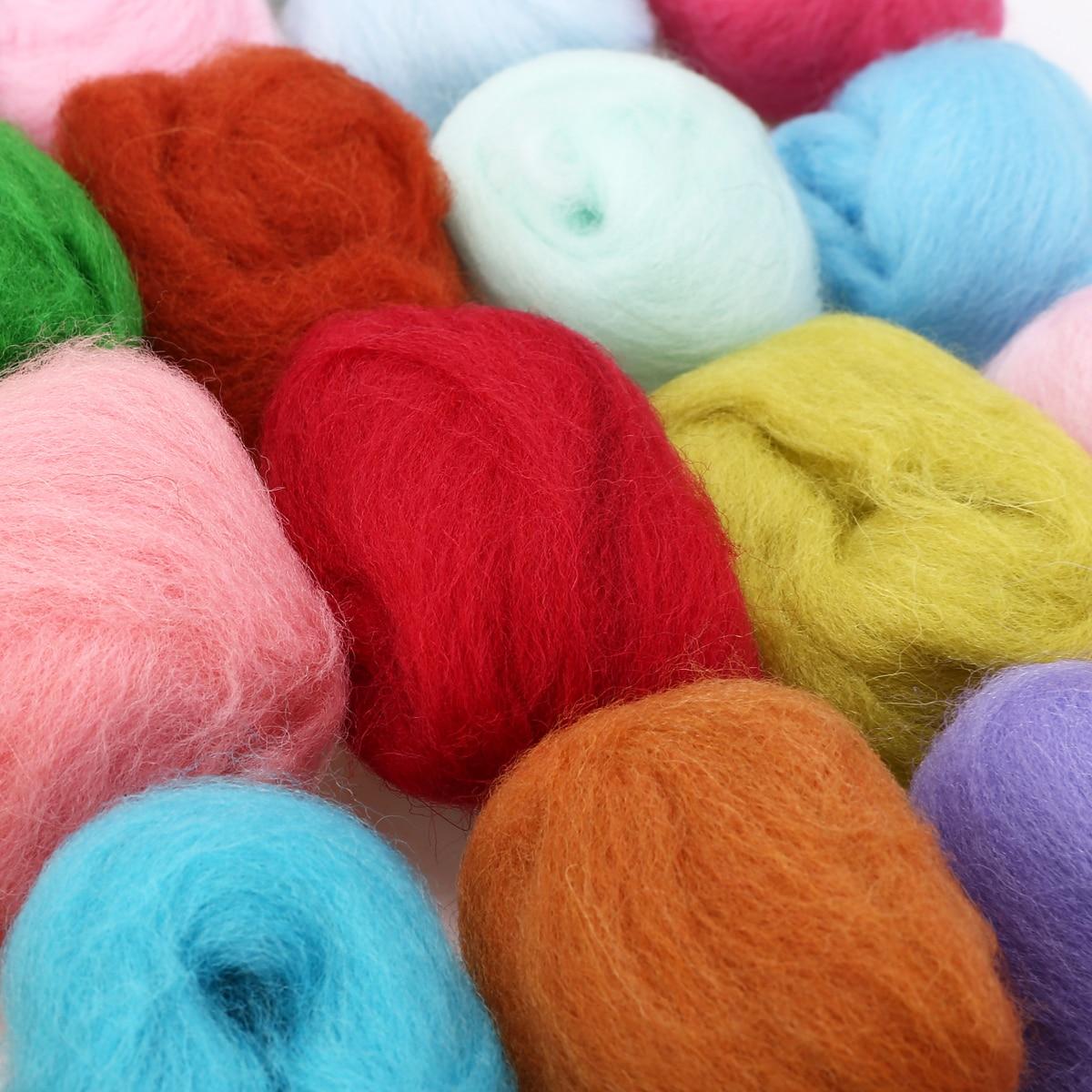 40 Colors 5g/bag Merino Wool Tops Felting Fibre For Needle Felting Wet Felting DIY Fun Doll Needlework Raw Wool Felt