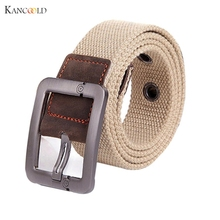 2017 Men's Belt for Women Automatic Square Buckle Waist Strap Sports Knit Canvas Belts Female Waistband drop shipping red black