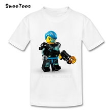 Legoe Batman Children T Shirt Kid Pure Cotton Round Neck Short Sleeve Tshirt Tee Shirt Boy Girl 2017 Lovable T-shirt For Baby(China)
