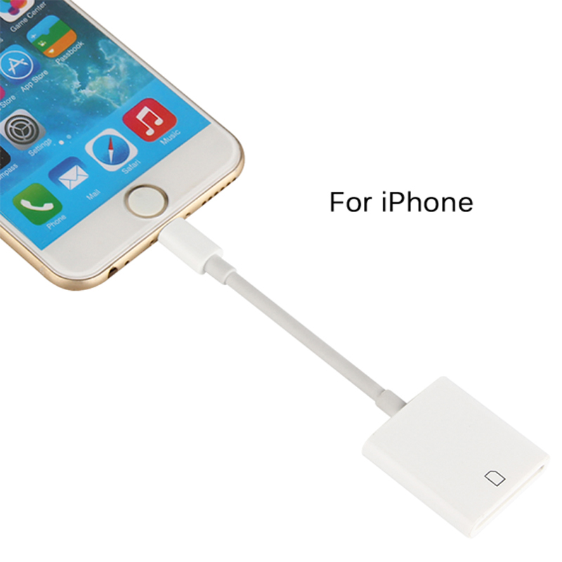 Lightning to SD Card Camera Reader Compatible OTG Data Cable Needn't APP For iPhone Apple iOS 9.2-11.0.3