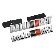Excellent Chrome Plated Metal Grille car badge sticker for mitsubishi asx,lancer,outlander,galant,pajero,ralliart Etc.car Emblem