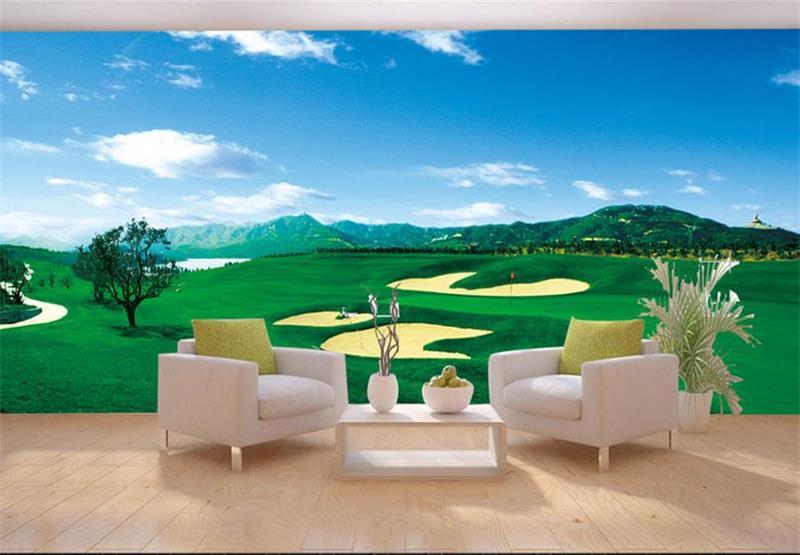 Custom mural wallpaper room 3d photo wallpaper golf course landscape painting room sofa TV background wall non-woven wallpaper<br><br>Aliexpress