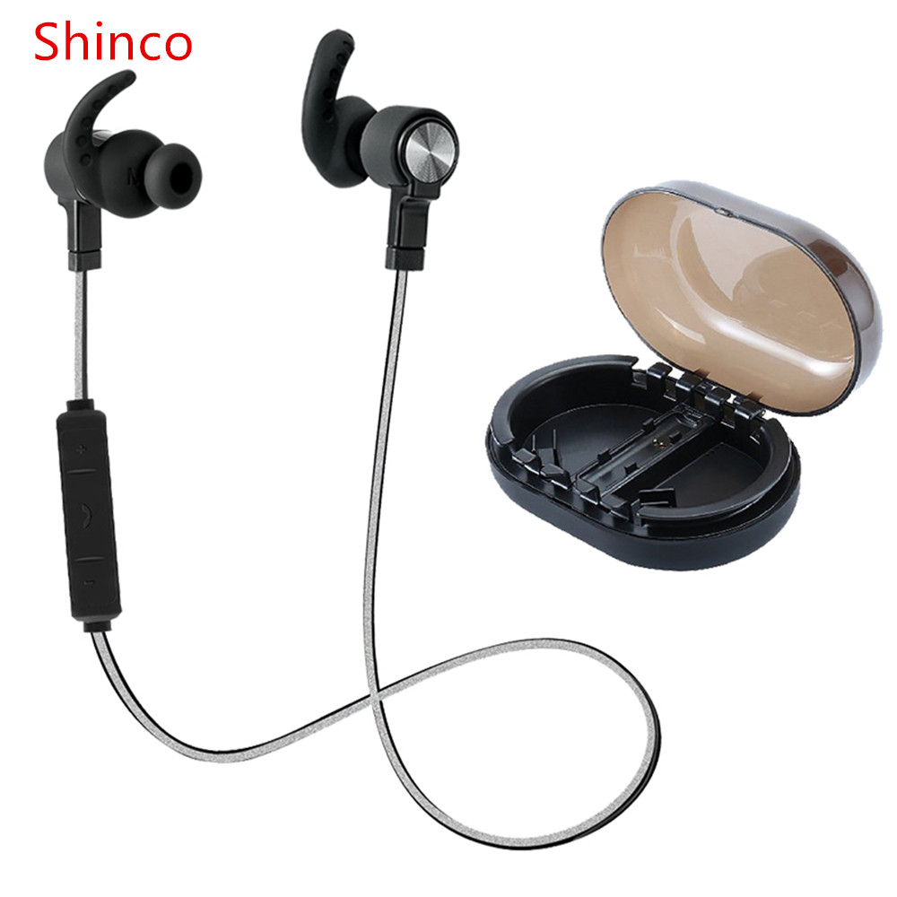 Shinco S128 Headphone Bluetooth Earphone Sport Running With Mic Earbud Wireless EarphonesBass Bluetooth Headset For Phone<br>