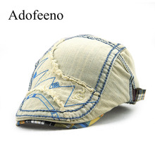 Adofeeno Children Visors Hats Boy Girl Cotton Beret Hat casquette cap for Men Denim Sun Cap(China)