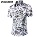 2018 Short Sleeve Mens Hawaiian Shirt Male Casual Camisa Masculina Flower Print Beach Summer Shirts Brand Clothing Men Plue Size 2