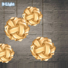 Full set PRICE not only lamp shape IQ light cover+cord+ceiling plate LED IQ lamp Puzzle lamps 30PCS set novelty lighting jigsaw