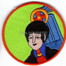"3"" THE BEATLES PAUL MCCARTNEY MULTI COLOR Logo Music Band Embroidered IRON ON Patch Rock Punk Heavy Metal free shipping dropship"