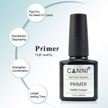 CANNI Gel Primer PH BOND No Acid Professional Nail Art Salon Manicure 40603 Matte Base Top Soak off UV LED Color Nail Gel Polish