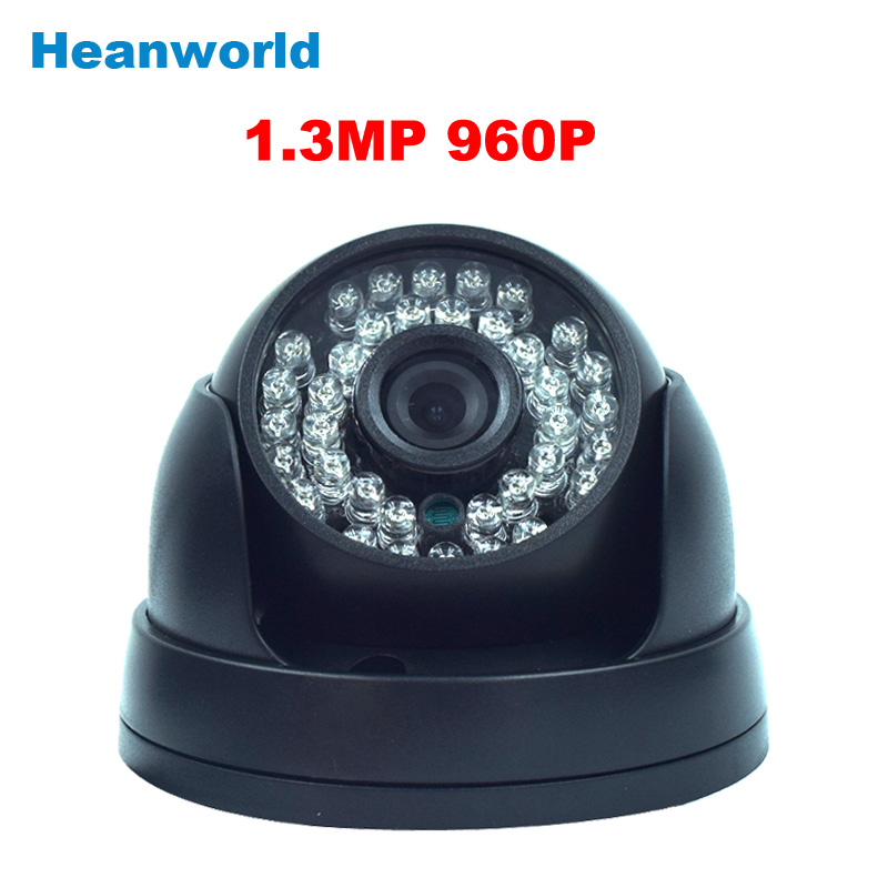 Heanworld cctv security ip camera 960p dome camera video HD onvif 36pcs infrared IR LED camera home use indoor<br>