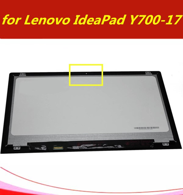 FHD 1080P 17.3 inch LED LCD Front Glass Display Screen Panel Assembly for Lenovo IdeaPad Y700-17ISK 80Q0 Non-Touch