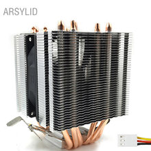 High quality 3PIN CPU cooler 115X 2011,6 heatpipe dual-tower cooling 9cm fan,support Intel AMD(China)