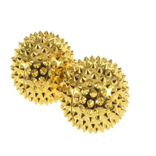 1 Pair Magnetic Spiky Hand Massage Ball Acupuncture Pressure Trigger Point Massage Pocket Size Pain Stress Relief Health Care