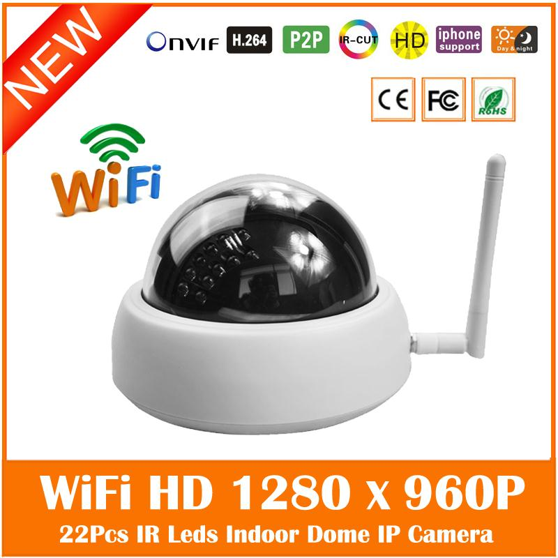 1.3mp Hd 960p Wifi Dome Ip Camera Wireless Indoor Home Surveillance Cctv Motion Detect Cmos Webcam 24 Infrared Special Offer <br>