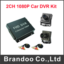 Super Mini AHD 1080P Recorder 2 Channel Mobile DVR Kit Support Max 128GB Including 2pcs Car Camera(China)
