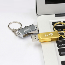 Pendrive rotate metal USB Flash 2.0 Memory Disk/Stick 4g 8g 16g 64g small U Disk pendrive usb flash drive  external storage gift